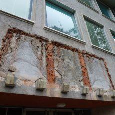 Die Kalkplatten sind weggehoben